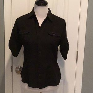 The Limited Black Button Down Top